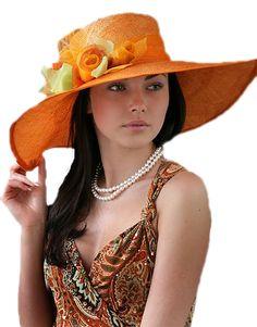 Lady in an orange hat! Orange Hats, Cute Hats, Pretty Wallpapers, Photo Editor, Hats For Women, Cowboy Hats, Beautiful Women, Stylish, Beauty