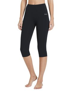 Baleaf Women's High Waist Yoga Activewear Workout Capris Leggings Inner Pocket Tummy Control Black Size XL - Products Lists of Tools and Hardware Workout Capris, Yoga Capris, Workout Leggings, Dress Yoga Pants, Yoga Pants Girls, Cut Out Leggings, Women's Leggings, Capri Leggings, Swimsuit Cover Ups