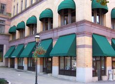 awnings | on residential property or added to a commercial building, awnings ...