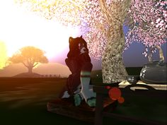 Yun #Secondlife #sunset by Noblesatra