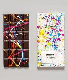 Jackson Pollock inspired chocolate