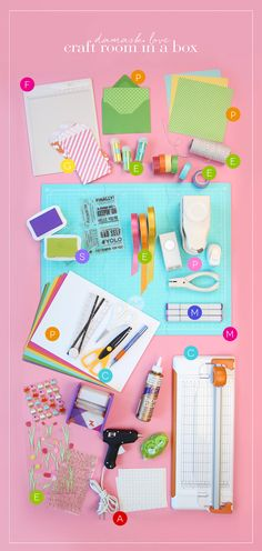 Craftroom in a Box. A great idea if you are trying to have minimal craft supplies!