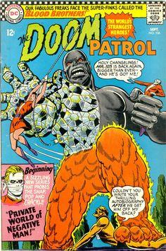 Doom Patrol. #106. September 1966. Cover art by Bob Brown.