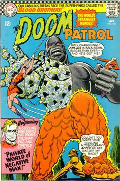 Doom Patrol. #106. September 1966. Cover art by Bob Brown.