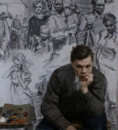 Mikhail Fedorovich Kholuev (1923 – 1990) - Self Portrait - Imgur
