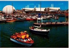 Postcard 901508 Boat Pier Ontario Place Toronto | eBay Ontario Place, Toronto, Boat, Canada, Urban, History, Retro, Building, Places