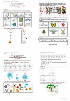 Materiale didactice de 10(zece): Teste de evaluare inițială C.L.R. și M.E.M. - clasa I