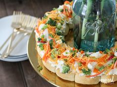 Veggie Pizza Wreath a classic and delicious appetizer reinvented for spring.