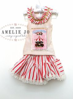 Vintage Can Can Pocket Skirt in Red by ameliejo on Etsy, $45.00
