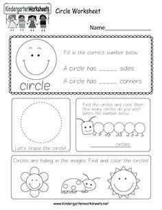 Circle Worksheet - Free Kindergarten Geometry Worksheet for Kids 3d Shapes Worksheets, Shape Worksheets For Preschool, Shapes Worksheet Kindergarten, Tracing Shapes, Geometry Worksheets, Preschool Lesson Plans, Preschool Shapes, Letter Tracing Worksheets, Halloween Worksheets