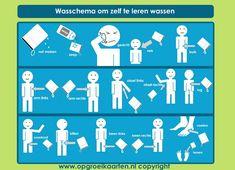 dagritmekaart jezelf wassen 1 - gratisbeloningskaart.nl
