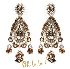 Swarovski and Sterling Silver Statement Earrings by OhlalaJewelry, $150.00
