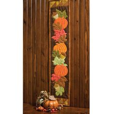 Fall Frolic Skinny Pattern can be created using Fall Medley Strip GO! Fall Sewing, Sewing Art, Sewing Crafts, Table Runner And Placemats, Quilted Table Runners, Quilt Stitching, Applique Quilts, Wool Applique, Skinny Quilts