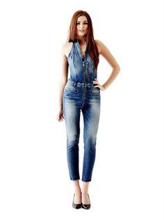 Combinaison Femme Guess, craquez sur le Combinaison en jean avec glissière Guess prix promo GUESS 159.90 €