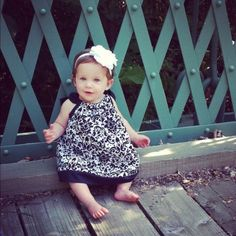 London 1 yr old in dress I made