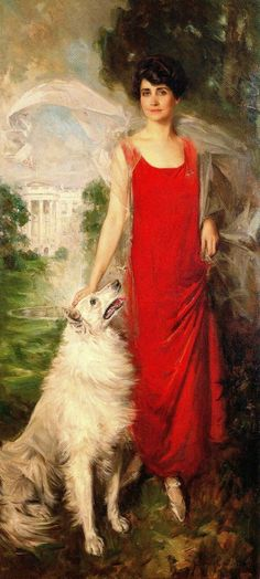 Howard Chandler Christy - Grace Coolidge portrait - 1924, wife of the U.S. President, Calvin Coolidge.
