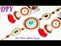 How to make rakhi at home       raksha bandhan   silk thread rakhi   rakhi making at home   tutorial - YouTube