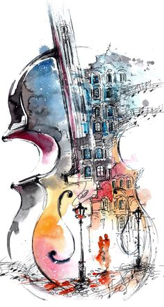 写 し だ す 楽 器 sanat fikirler arte, violin dibujos ve pinturas musica. Music Drawings, Music Artwork, Art Drawings, Drawing Art, Violin Art, Violin Drawing, Music Wallpaper, Art Graphique, Music Artists