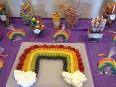 Great rainbow fruit display #rainbow #fruit #party