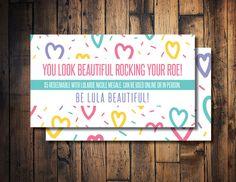 Lula roe cash lula mula lula bucks printable lula cash for Bedroom kandi business cards