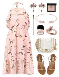 """Chic Island Getaway - Floral Dress"" by anyasdesigns ❤ liked on Polyvore featuring Brahmin, Allurez, Latelita, Bobbi Brown Cosmetics and Marc Jacobs"