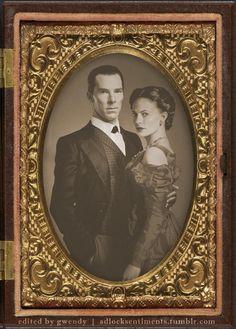 Vintage Sherlock Holmes and Irene Adler by gwendy85.deviantart.com on @DeviantArt