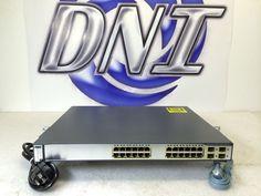 Cisco WS-C3750G-24PS-S 24 Port RJ-45 10/100/1000 Gigabit Ethernet PoE+ SFP KK