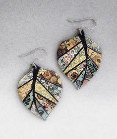 Papiermosaik Blatt Ohrringe Medium Leaf Ohrringe Upcycled image 1 Source by inmysandbox . Paper Bead Jewelry, Paper Earrings, Fabric Jewelry, Paper Beads, Leaf Earrings, Polymer Clay Earrings, Jewelry Crafts, Handmade Jewelry, Fabric Earrings