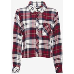 Rails Cropped Plaid Shirt: Wine ($99) ❤ liked on Polyvore featuring tops, shirts, flannel, long sleeves, long sleeve tops, flannel shirt, short-sleeve button-down shirts, plaid button up shirts and long sleeve button up shirts
