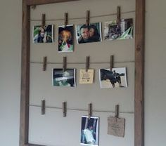 To build this project I started with a couple of 2 x 2 wood boards. I measured the room I thought I would need to have 4 photos across with 3 rows h...