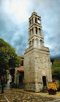 """Bell tower in Stemnitsa, Arcadia, Greece 