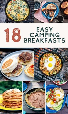 These quick and easy camping breakfast ideas will have you jumping out of your sleeping bag in the morning and ready to start your day. meals for camping 18 Easy Camping Breakfast Ideas Checklist Camping, Camping Essentials, Camping Hacks, Camping Recipes, Camping Supplies, Healthy Camping Meals, Food To Take Camping, Backpacking Food, Camping Crafts