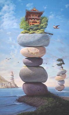 Paul Bond Fine Art - Gallery of Magic Realism, Surrealism, Surrealist, Fantastic Realism Fantasy Landscape, Fantasy Art, Eugenia Loli, Magic Realism, Realism Art, Surrealism Painting, Whimsical Art, Surreal Art, Fine Art Gallery