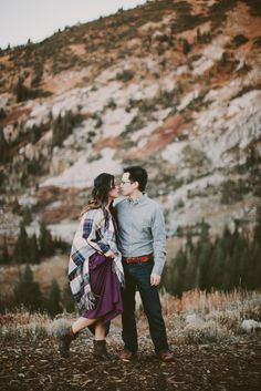 A couples session in the Utah mountains.