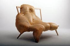 'At One' sofa by Charlotte Kingnorth. Too scary to sit!