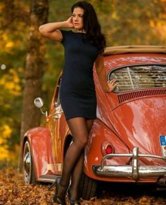 For the Love of All Things German and Air Cooled Pantyhose Outfits, Pantyhose Legs, Nylons, Vespa, Bus Girl, Vw Vintage, Vw Cars, Car Girls, Vw Beetles