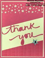 Handmade thank you card using Stampin' Up! December Paper Pumpkin All Shook Up Monthly Kit plus Itty Bitty Accents Punch Pack and Confetti Stars Border Punch.  By Michele Reynolds, Inspiration Ink, http://inspirationink.typepad.com/inspiration-ink/2015/01/paper-pumpkin-all-shook-up-kit-ideas.html.  #stampinup #paperpumpkin #allshookup