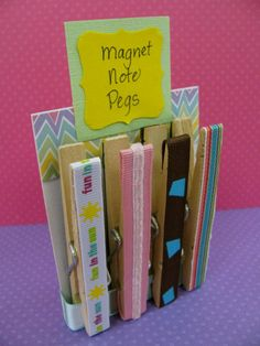 """Adapt this magnet-clothespin craft by gluing this message to the ribbon: """"God can hold it all together!"""""""
