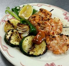 Fire Roasted Shrimp and Veggies