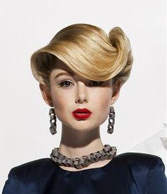 medium blonde straight coloured sculptured updo Mature Movie hairstyles for women  Vintage hairstyles www.ukhairdressers.com
