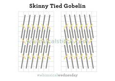 Tied Gobelin Stitch from August 3, 2016 whimsicalstitch.com/whimsicalwednesdays blog post