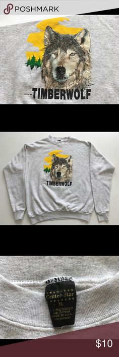 Timber Wolf Hoodless Sweatshirt Not something you'll come across every day, especially an original from 1990. Sport history as well as fashion. Shirts Sweatshirts & Hoodies