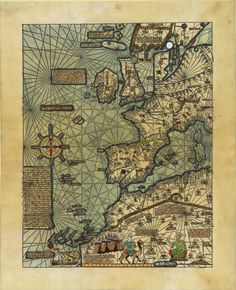 Atlas catalan de 1375 - Western Europe and Northwest Africa