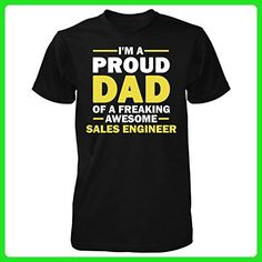 Proud Dad Of A Freaking Awesome Sales Engineer Gift For Dad - Unisex Tshirt - Careers professions shirts (*Amazon Partner-Link)