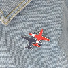 Stripe Aircraft Double Airplane Metal Brooch Pins Plane Enamel Button Pin Shirt Denim Jacket Collar Lapel Badge Fashion Jewelry-in Brooches from Jewelry & Accessories on Aliexpress.com | Alibaba Group