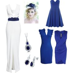 something blue by aimbecca on Polyvore featuring polyvore fashion style Solace Dorothy Perkins BERRICLE Very Gotha