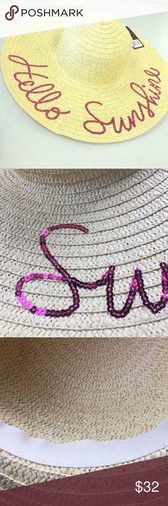 805fa97211f34 Hello Sunshine Big Floppy Hat ☀