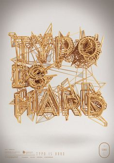 Graphic Designer Creates Brilliant 3D Typographic Artwork - DesignTAXI.com http://www.creativeboysclub.com/wall/creative