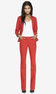ULTIMATE DOUBLE WEAVE BARELY BOOT EDITOR PANT from EXPRESS, Is it time for me to get some red pants?