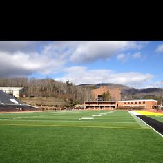 On the football field at Appalachian State